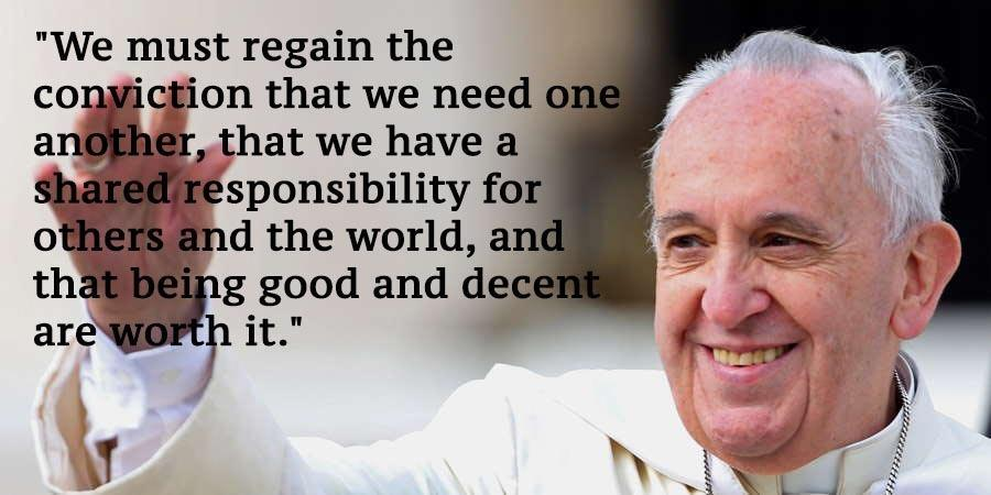 Pope Francis Climate Change Quotes Hand