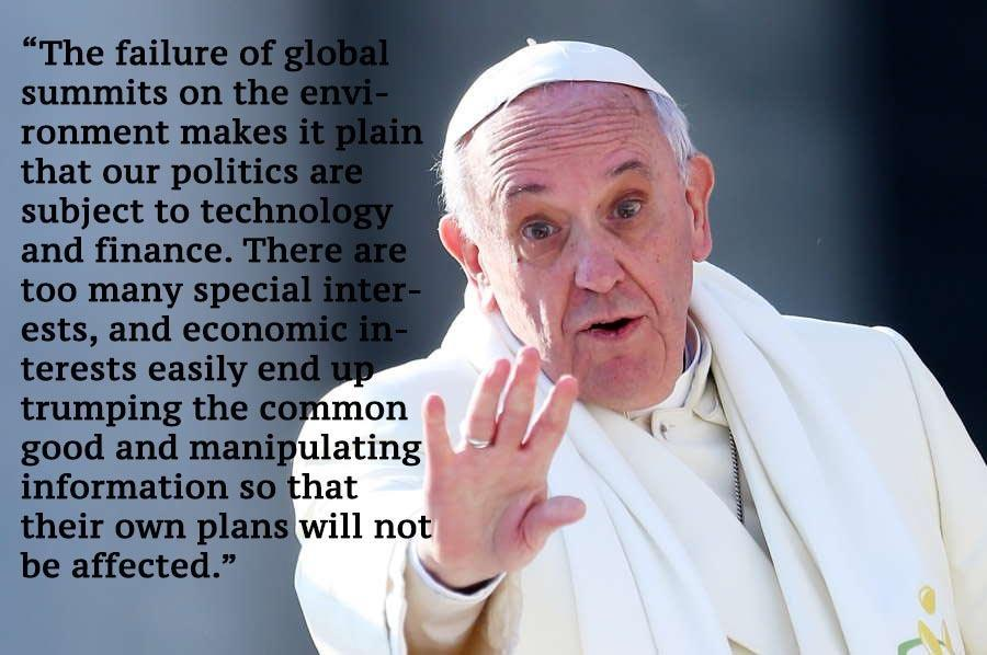Pope Francis Shove