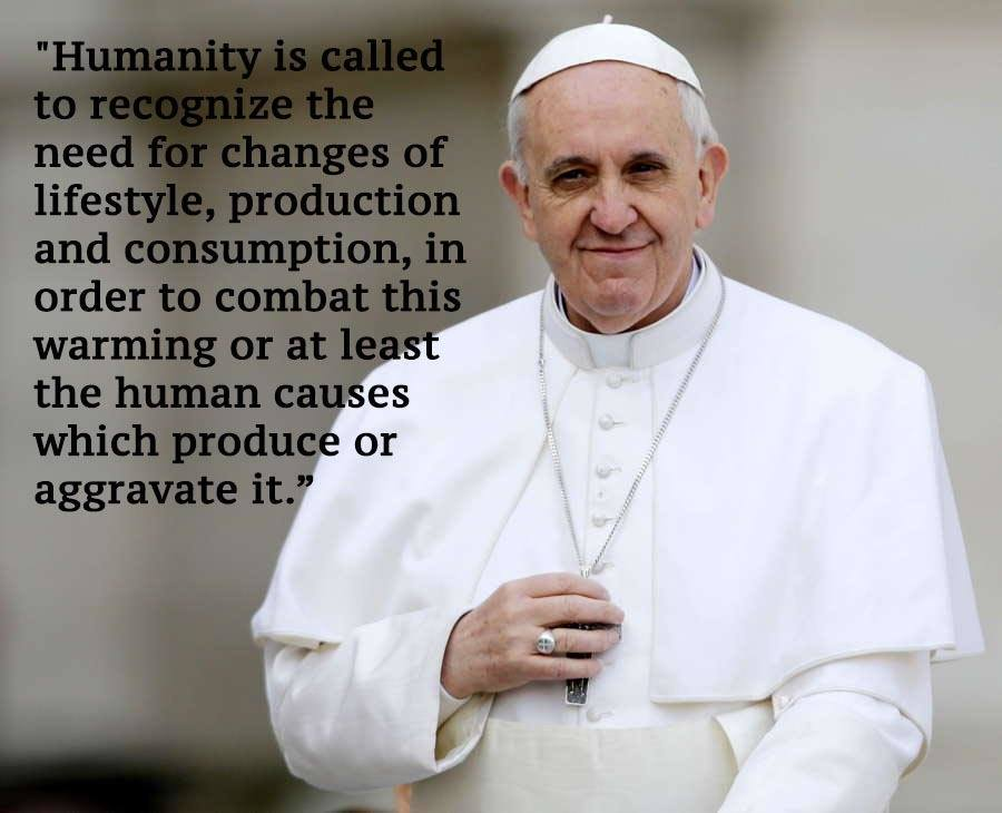 Pope Francis Standing