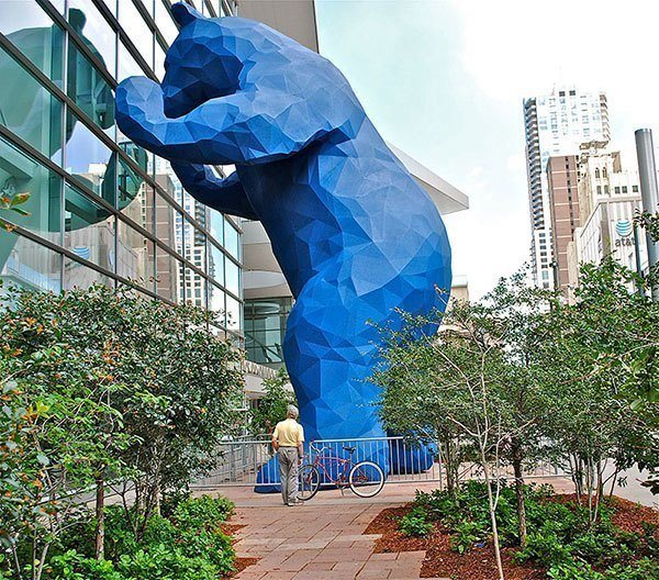 Blue Bear Public Art in Denver