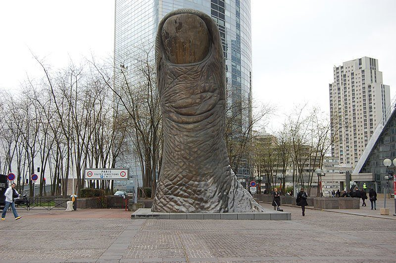 The Thumb Public Art in Paris