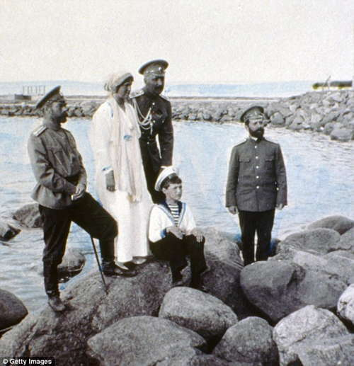 Romanov Family At Water
