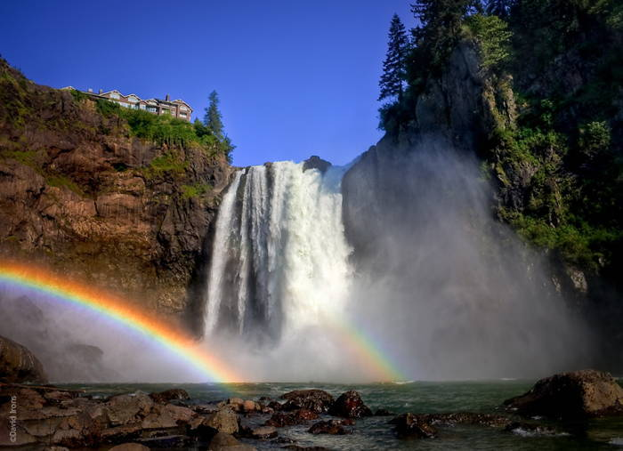 Snoqualmie Falls Waterfall Rainbow