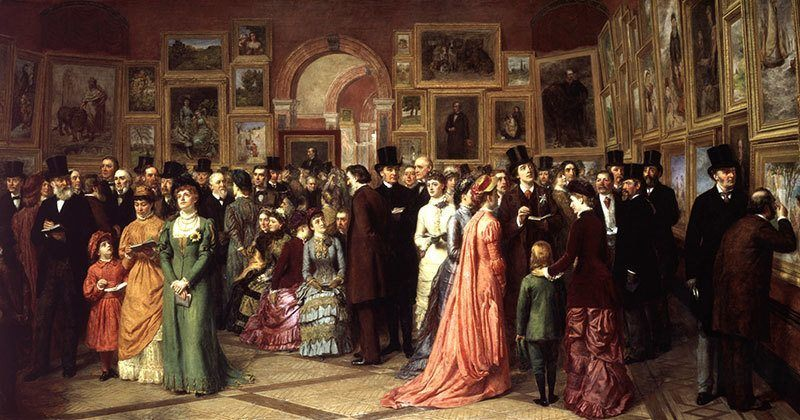 Painting Private View at the Royal Academy, 1881