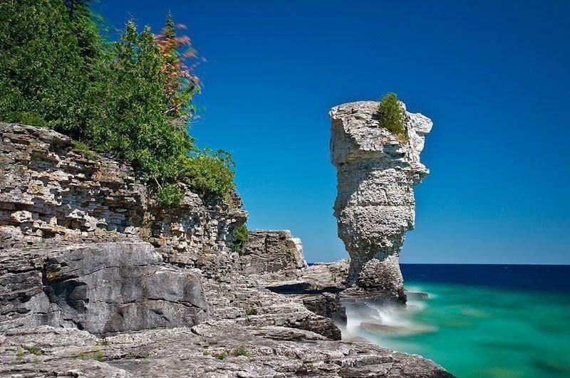 Flowerpot Island in Canada