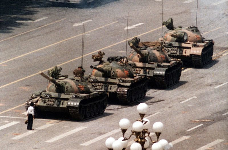 Tank Man At Tiananmen Square Protests Of 1989