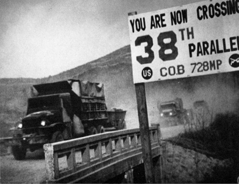 Vintage Korean War 38th Parallel