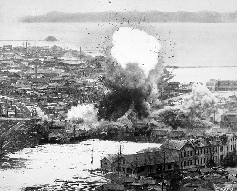 Vintage Korean War Bomb Strikes