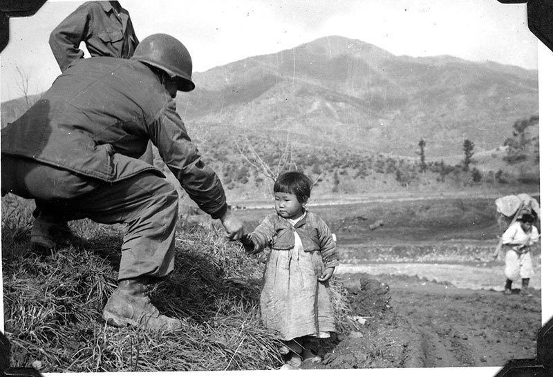 Vintage Korean War Little Girl