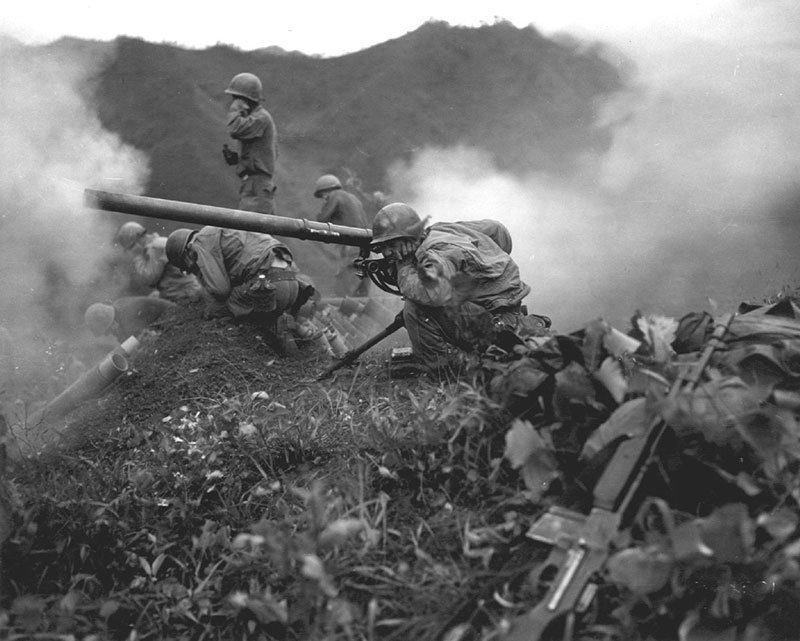 Vintage Korean War M20 75 Mm