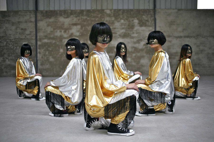 weird girls project golden gowns