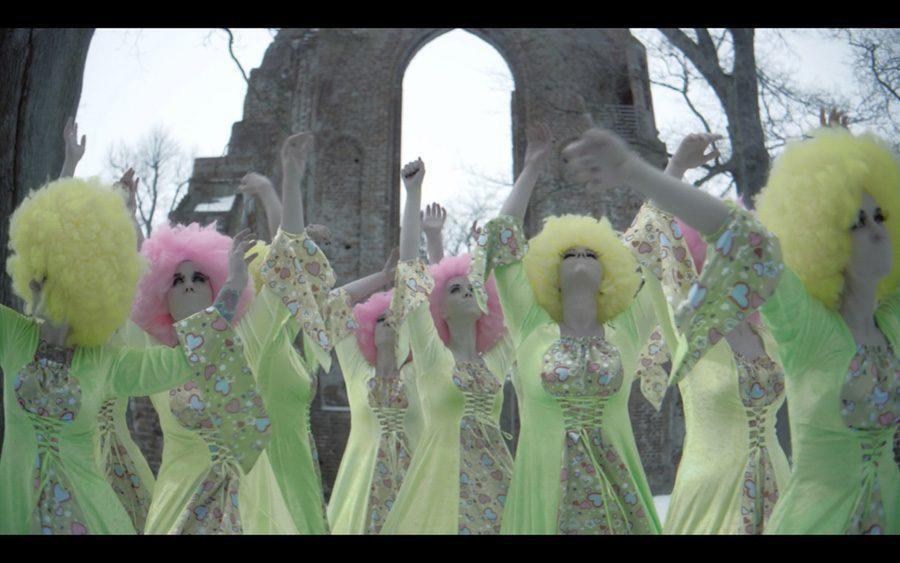 weird girls project green gowns