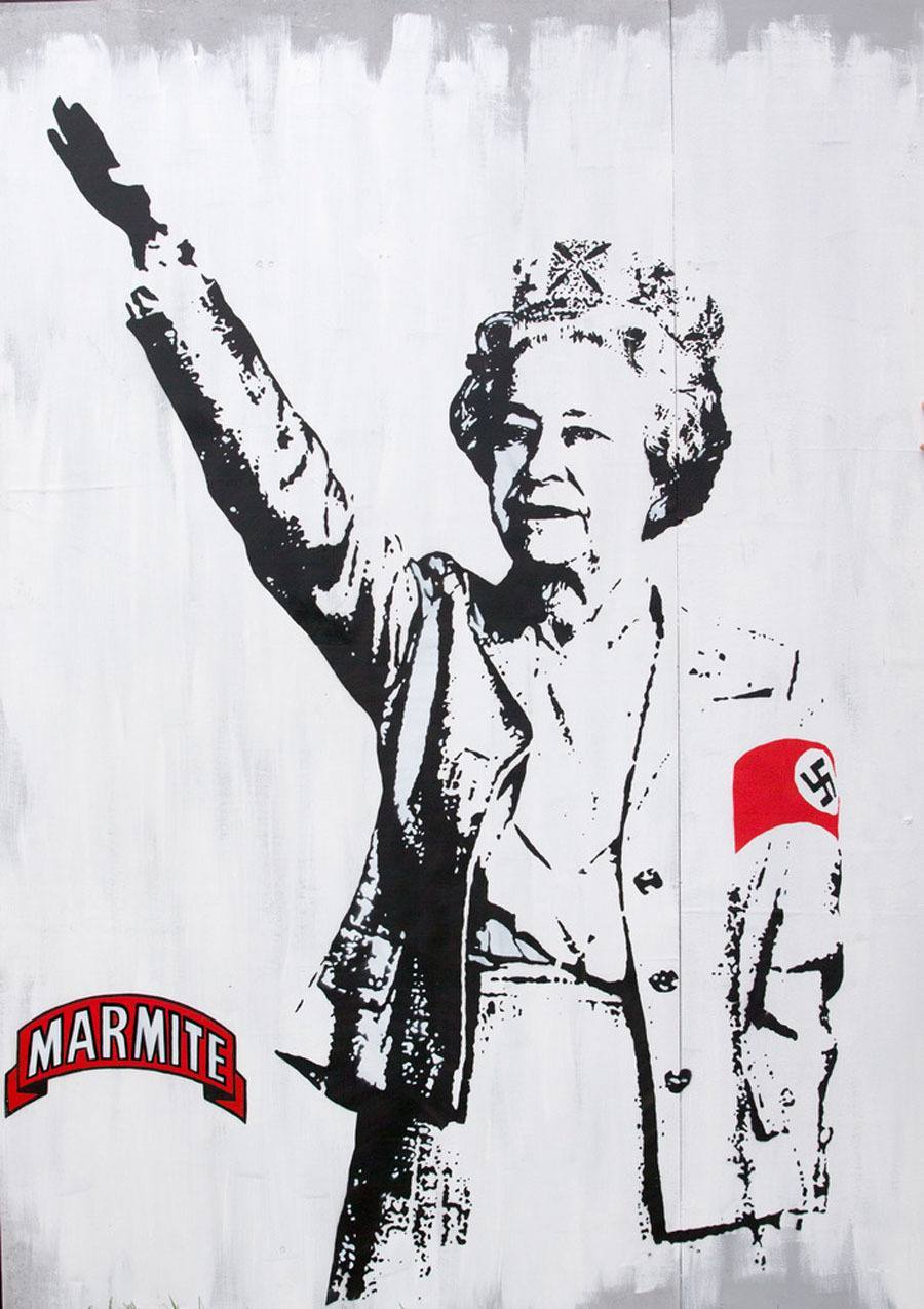 Banksy graffiti festival Marmite