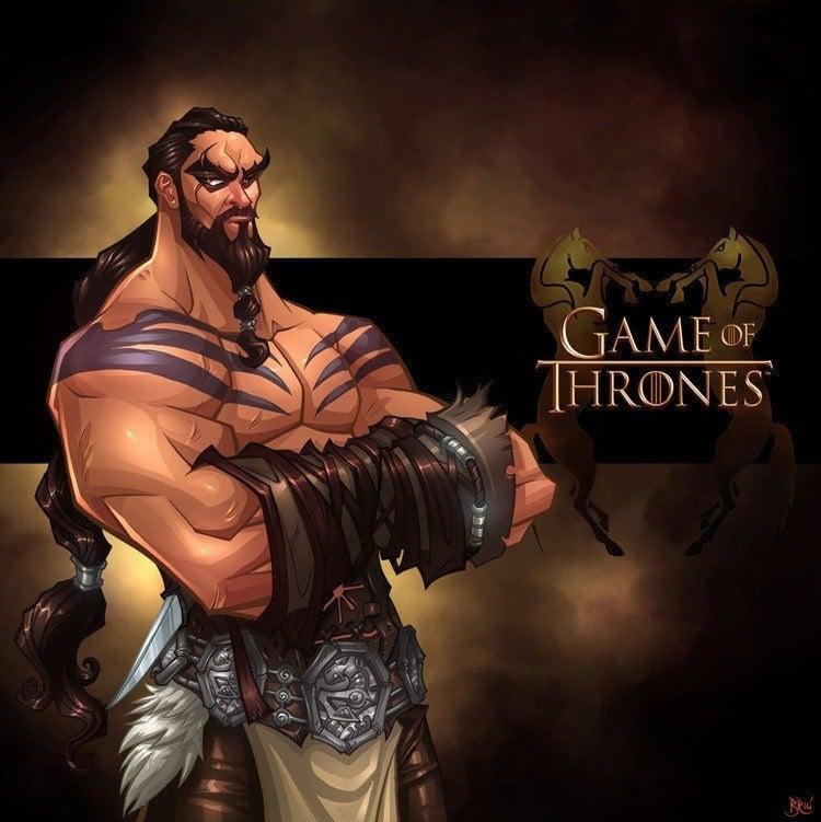 game of thrones art drogo