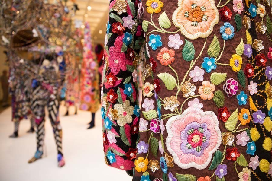 Nick Cave soundsuits closeup