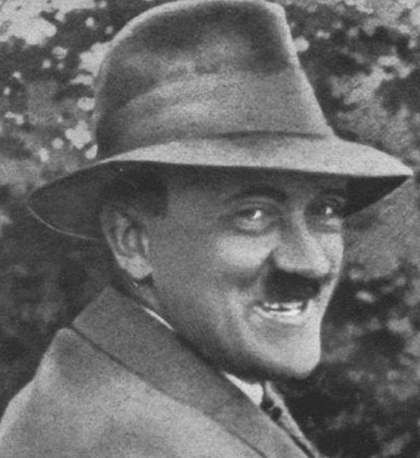 Adolf Hitler Hat Smiling
