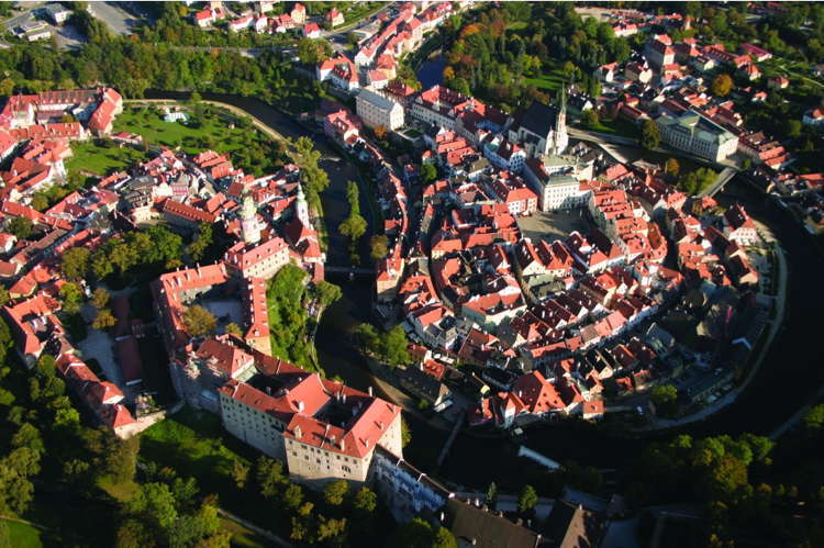 Beautiful Towns Cesky Aerial