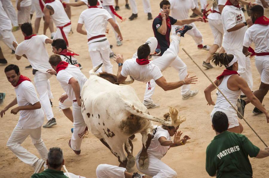 Bull Running Crowd Pamplona