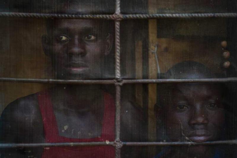 Burundi Children Sad Window