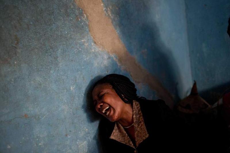 Burundi Woman Crying