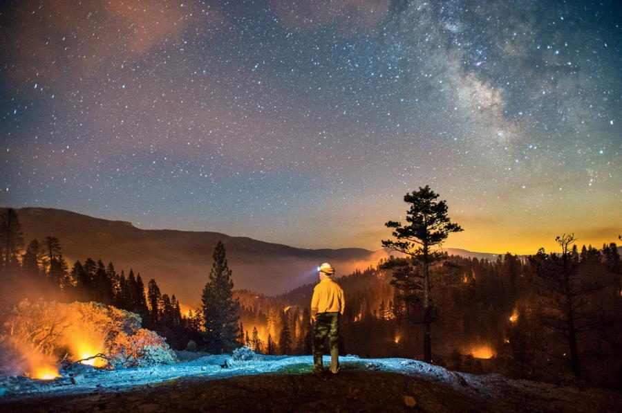 California Wildfires Stars Mountains