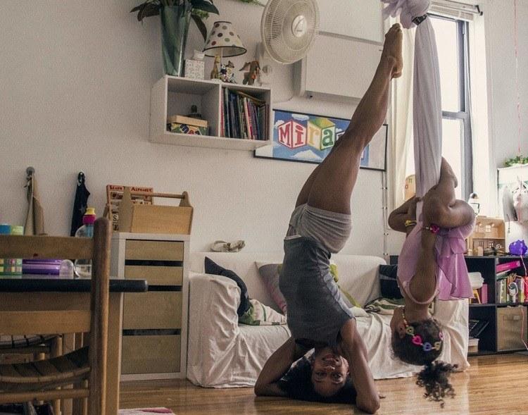dancers at home hanging