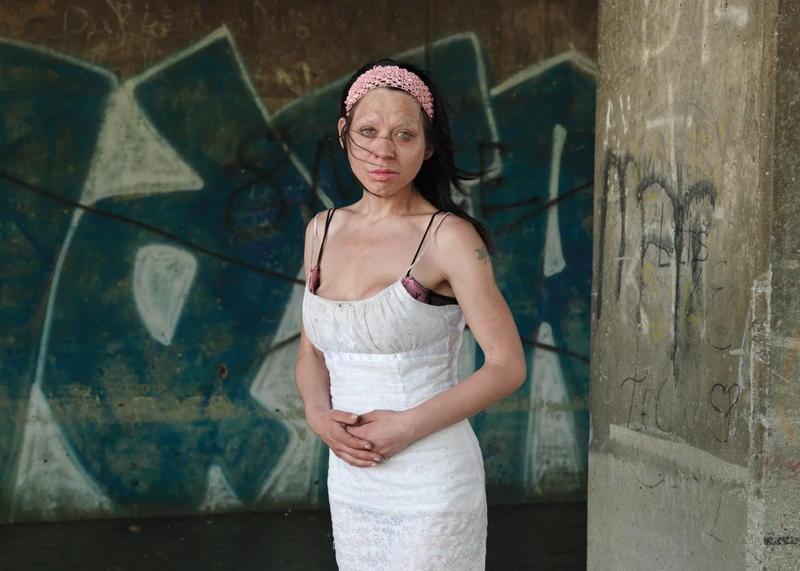 Detroit Sad Woman Graffiti