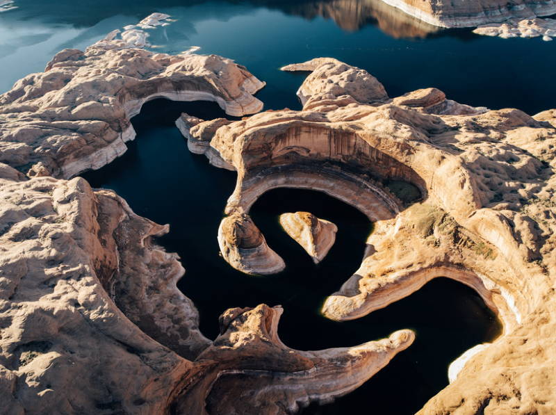 Drought Low Water Rocks