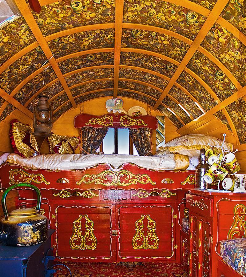 Interior Of A Romani Wagon