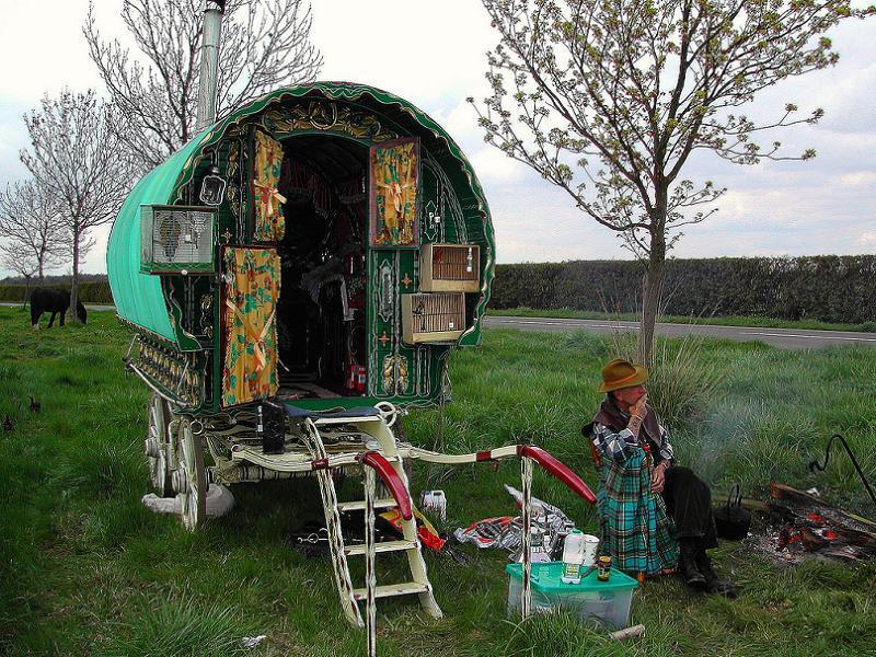 Gypsies Wagon Man