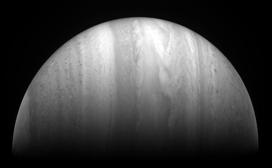 Jupiter Closeup Swirling Clouds