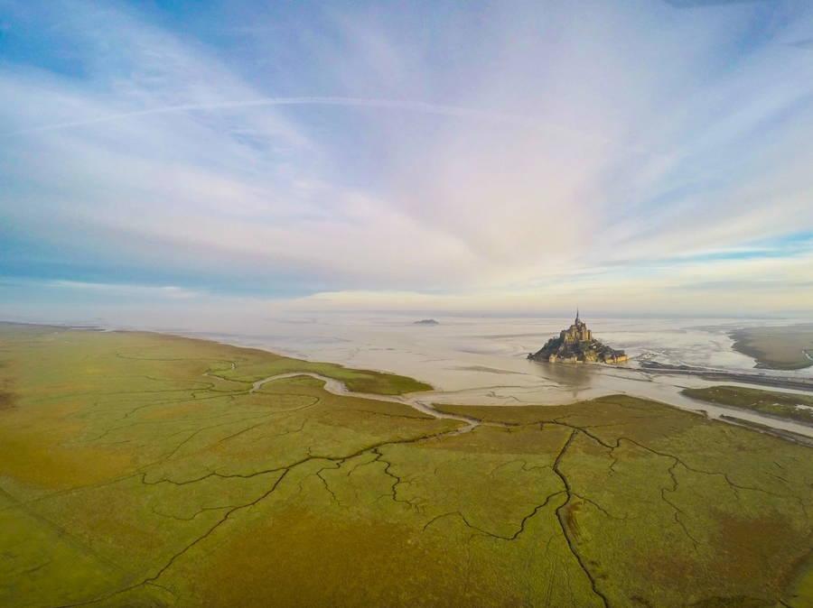 Mont Saint Michel Drone