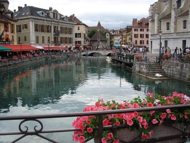 Most Beautiful Towns Annecy Pink Flowers