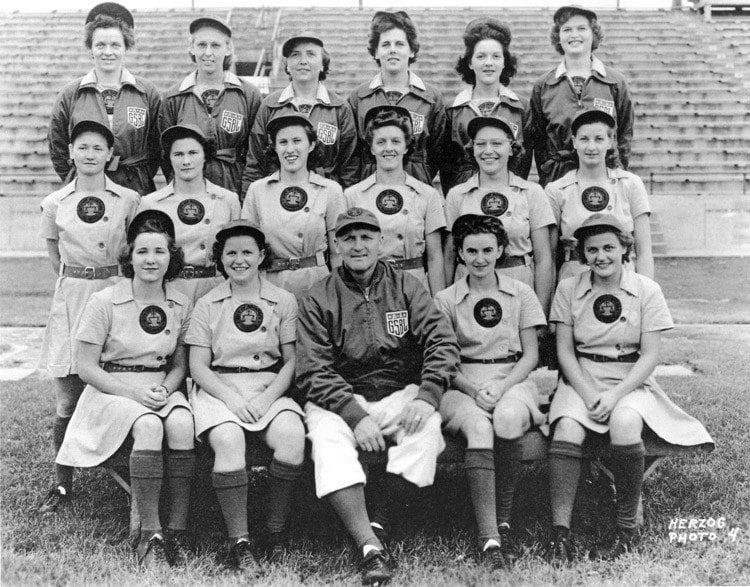 national girls baseball peaches