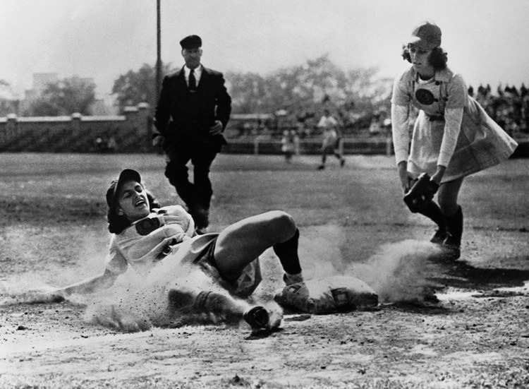 national girls baseball hard slide