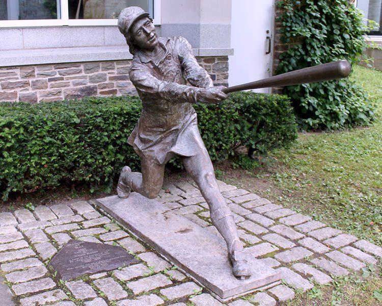 national girls baseball statue