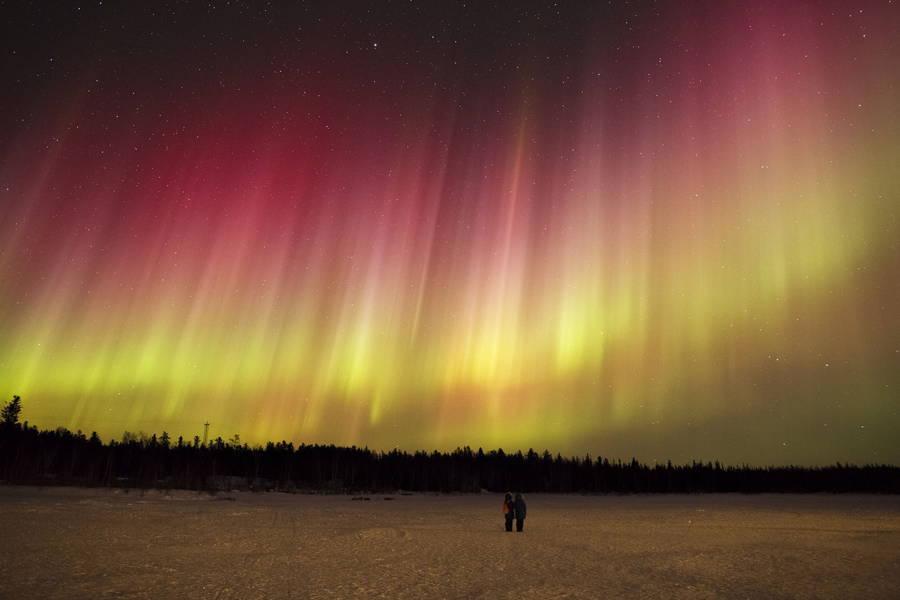 Rainbow Aurora People Watching