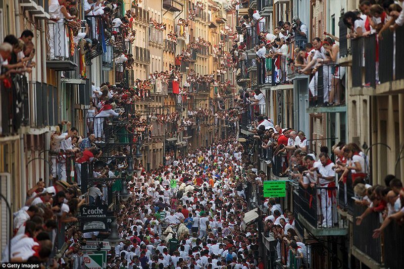 Crowds Gather in Pamplona