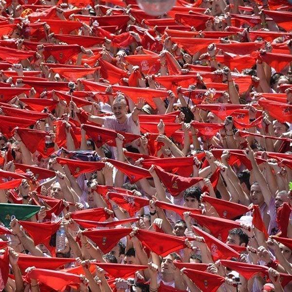 Running of the Bulls Red Handkerchief