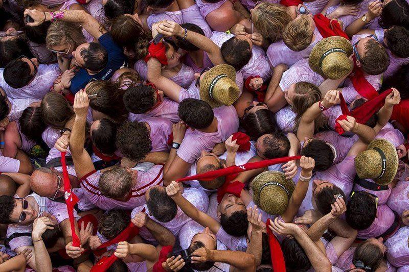 Revelers in Spain