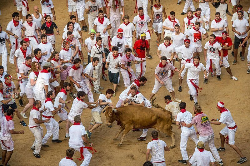 Spanish Festival For Running Of The Bulls