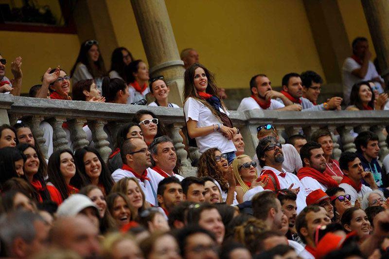 Spectators Running of the Bulls