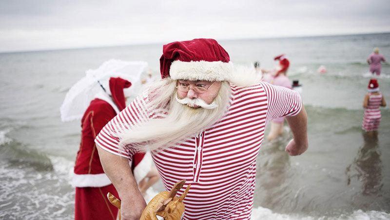 Santa Footbath Tradition