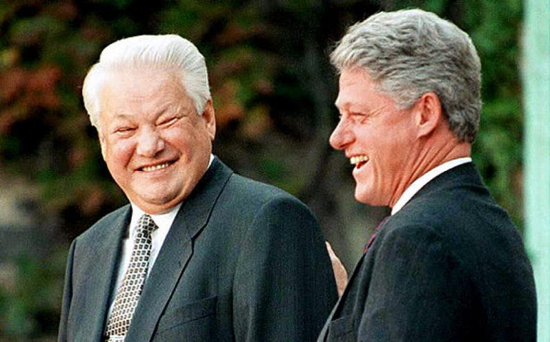 Yeltsin Clinton