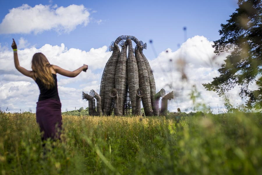 Archtoyanie Sculpture Dancing Girl