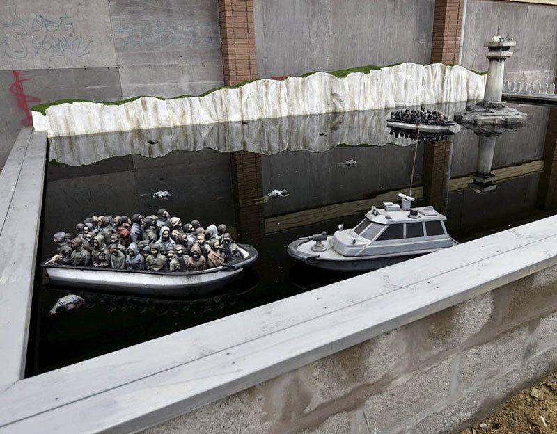 Banksy Dismaland Pond Boat