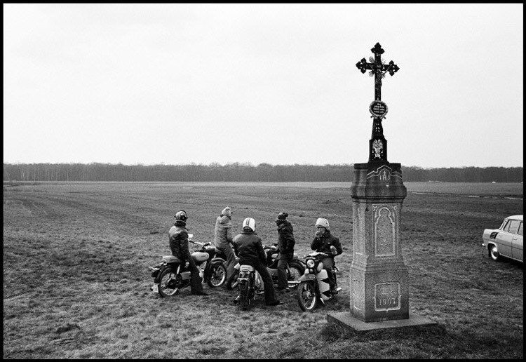 Bikers In Field