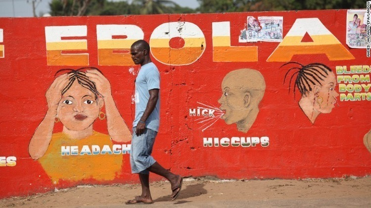 Ebola Sign Man Walking