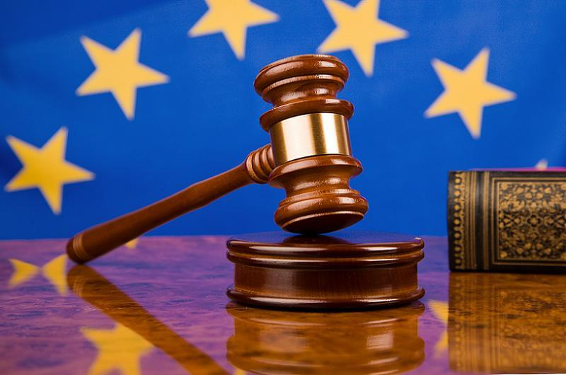European Rights Flag Gavel