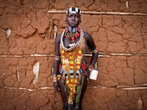 Photo Of The Day: Traditional Dress Code For Unmarried Hamar Woman